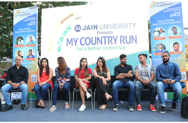 Jain university my Country Run